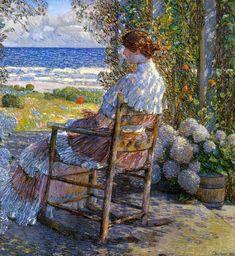 The Sea, 1892 - Childe Hassam (American, 1859-1935) Impressionism