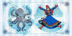 La vie avec une pieuvre domestique par Brian Kesinger  Dessein de dessin