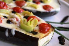 Pieczony bakłażan z mozzarellą