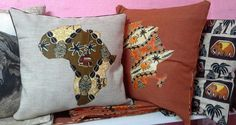 African Print cushion covers