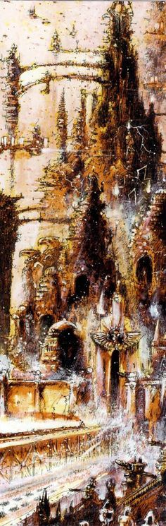 40k - The Emperor's Palace by John Blanche