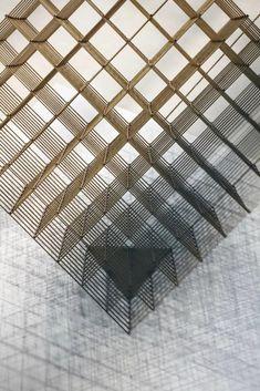 重庆·半岛城邦售楼处 SCD(香港)郑树芬设计事务所 Perforated Plate, Metal Lattice, Louvre, Ceiling, Concept, Interior Design, Artwork, Inspiration, Painting