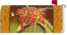 Autumn Bicycle Mailbox Cover