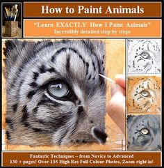 how to paint animals and fur