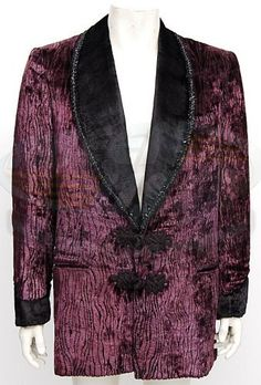 """This is the smoking jacket that the late Raul Julia wore throughout most of the movie as """"Gomez Addams"""". It can be seen in many memorable scenes including the seance at the beginning of the movie. Addams Family, The / Gomez Smoking Jacket 