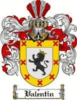 Valentin Coat of Arms / Valentin Family Crest