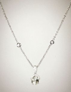 A simple and beautiful natural diamond pendant necklace. #unique #jewelry #luxury #fashion #diamondnecklace