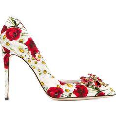Dolce & Gabbana Floral pointed pumps Réduction Avec Mastercard Pré Commande Prix Pas Cher qcrDy1El