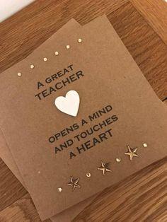Thank You Teacher Card, Special Teacher, Teacher Card, End of Term Card, Gift Fo. Thank You Teache Happy Teachers Day Wishes, Teacher Thank You Cards, Your Teacher, Teacher Retirement, Retirement Cards, Teachers Day Drawing, Teachers Day Poster, Handmade Birthday Cards, Handmade Cards