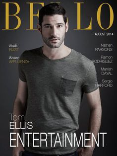 Male Fashion Trends: Tom Ellis para BELLO Magazine Agosto 2014
