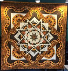 Glacier Star, Quiltworx.com, Made by Vicki R. Steffenhagen and Janet A. Mercer, Quilted by Kim Werth
