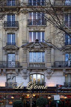 Rita Crane Photography: Paris / historic cafe / Haussman architecture / building / restaurant / Le Dome, on Blvd Montparnasse, Paris   Flick...