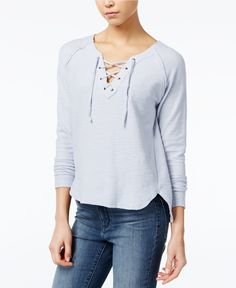 Fair Child Cotton Lace-Up Top $69.00 Fair Child ups the interest of this casual top with neat lace-up details at the neckline.