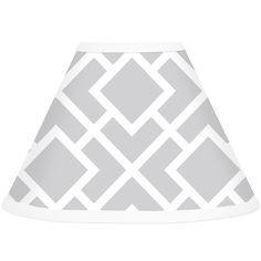 Sweet JoJo Designs Grey and White Diamond Lamp Shade | Overstock.com Shopping - Big Discounts on Sweet Jojo Designs Nursery Lamps