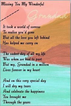 KEEP SAKE IN LOVING MEMORY/POEM /GRANDAD/ POEM
