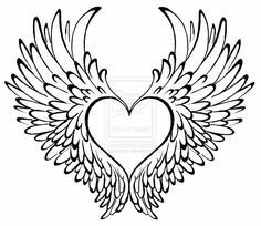 Cute center for heart tattoo. Wings need to be adjusted