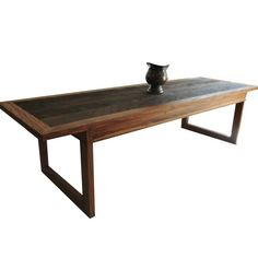 MS13c mesa de jantar rústica madeira de demolição peroba rosa