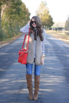 Southern Curls & Pearls: Yet Another Way To Wear Your Striped Turtleneck...