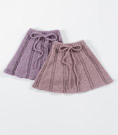 Pleated Skirt, Skater Skirt, Knitting For Kids, Drops Design, Jumpers, Boho Shorts, Tweed, Knit Crochet, Girls Dresses