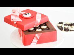 Caja de Bombones San Valentin - Torta/ pastel decorado || Tan Dulce - YouTube