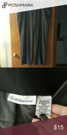 Croft & Barrow Gray Dress Pants Worn only a few times! Croft and Barrow Gray Dress Pants. croft & barrow Pants