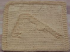 Downward-Facing Dog Knit Dishcloth Pattern - Great gift idea for a yoga enthusiast!