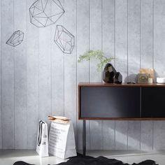 Lambris PVC, MDF : 20 modèles - Côté Maison Pvc, Leroy Merlin, Ceiling Design, Decoration, Dining Room, Shelves, Interior Design, Storage, Barn Wood