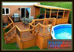 Rolling Deck La Couverture Terrasse Mobile De Piscine Et . Home and Family My Pool, Swimming Pools Backyard, Pool Landscaping, Pool Deck Plans, Patio Plans, Pergola Plans, Above Ground Pool Decks, In Ground Pools, Patio Layout