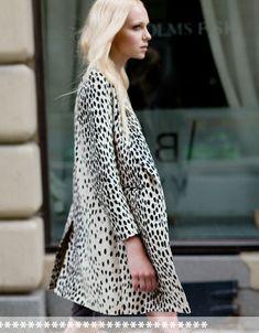 linen leopard print coat | emerson fry