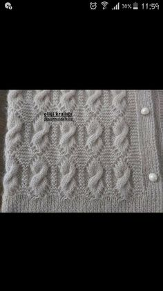 "diy_crafts- Knitted Women's Vest, Cardigan, Sweater knit knitting crochet Knitted Women Vest Cardigan Sweater ""This post was discovered Easy Knitting Patterns, Knitting Stitches, Knitting Designs, Free Knitting, Knitting Projects, Baby Knitting, Crochet Baby, Stitch Patterns, Knit Crochet"