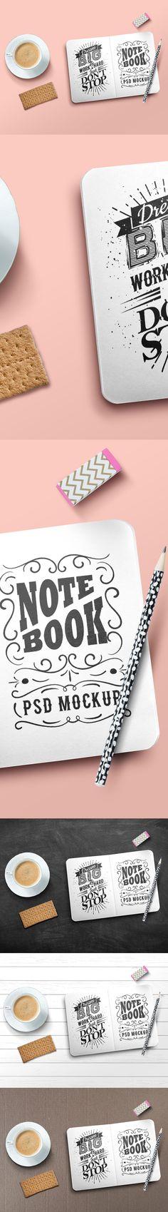 Free Sketchbook Mockup PSD (80 MB) | Graphics Fuel | #free #photoshop #mockup #psd #sketchbook