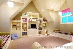 More ideas for storage in a kids playroom