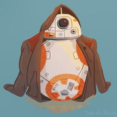 Poe, Finn, and Rey were all seen wearing the jacket at some point during 'Star Wars: The Force Awakens.' This artist thought that deserved a turn, too. Star Wars Fan Art, Droides Star Wars, Finn Star Wars, Star Wars Love, Star Wars Droids, Star War 3, Star Wars Gifts, Disney Pixar, Disney Fan Art
