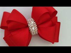 LAÇO TURMALINA 🎀 - YouTube Making Hair Bows, Diy Hair Bows, Diy Bow, Diy Ribbon, Ribbon Bows, Felt Headband, Hair Bow Tutorial, Crochet Poncho Patterns, Hair Ribbons