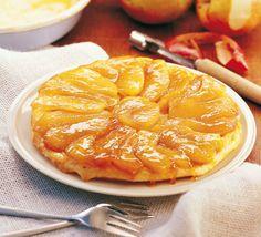 Tarte Tatin (gebackene Apfeltarte) - für das ausführliche Rezept auf das Bild klicken!