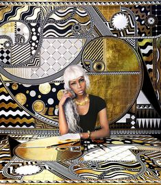 Lina Iris Viktor Paints with Gold | Hi-Fructose Magazine