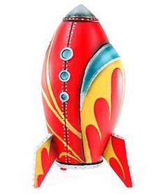 Toy Rocket Design   Vintage and Retro Space Age Raygun, Rocket and Robot Toys   Sugary.Sweet