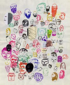 Craig Atkinson  Fantastic doodleicious drawings of heads!  Letting go and letting the ideas flow.