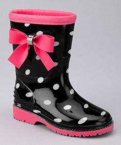 Black & Fuchsia Poko Rain Boot on #zulily today!  http://www.zulily.com/invite/jpalmer893/p/black-fuchsia-poko-rain-boot-kids-27143-2212551.html?tid=social_pinref_shareviaicon_na=2212551