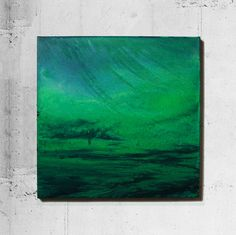 Abstract Painting Original Modern Art Green Blue Acryl von Masuhr