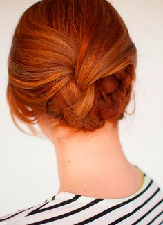 Swooning over this braided updo.