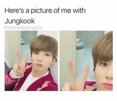 Here's a picture of me with Jungkook