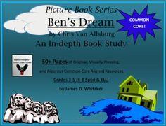 Ben's Dream Chris Van Allsburg Book Study Common Core -- Pages! Teaching Tools, Teaching Resources, Teaching Ideas, The Stranger Book, Dream Book, Author Studies, Book Study, Upper Elementary, Teacher Newsletter