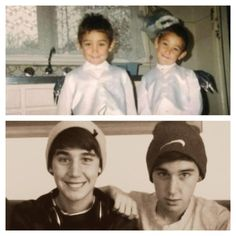 Jai and Luke Brooks then and now