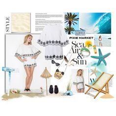 #pixiemarket Summer Style with Pixie-Market! by minojka on Polyvore featuring J/Slides, MANGO, Disney, beach, summerstyle, summerfashion, pixiemarket and summer2015