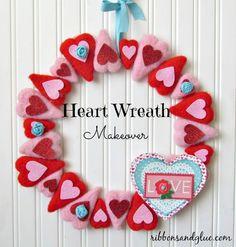 felt heart, Valentines