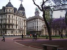Buenos Aires, Argentina... if I remember... that's the Calle Florida, in the background...