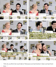 Adam: Nobody listening to me..... Jennifer and Colin #SDCC 2014