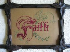 Victorian Punched Paper Motto Faith Embroidery Kit | eBay