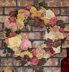 Grapevine and Coffee Filter Wreath
